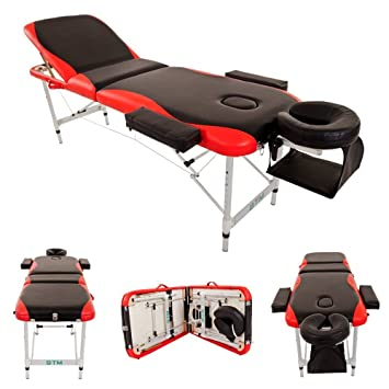 (BTM) Deluxe Lightweight Professional Massage Table Aluminium Beauty Couch  Bed Spa Portable Folded 3