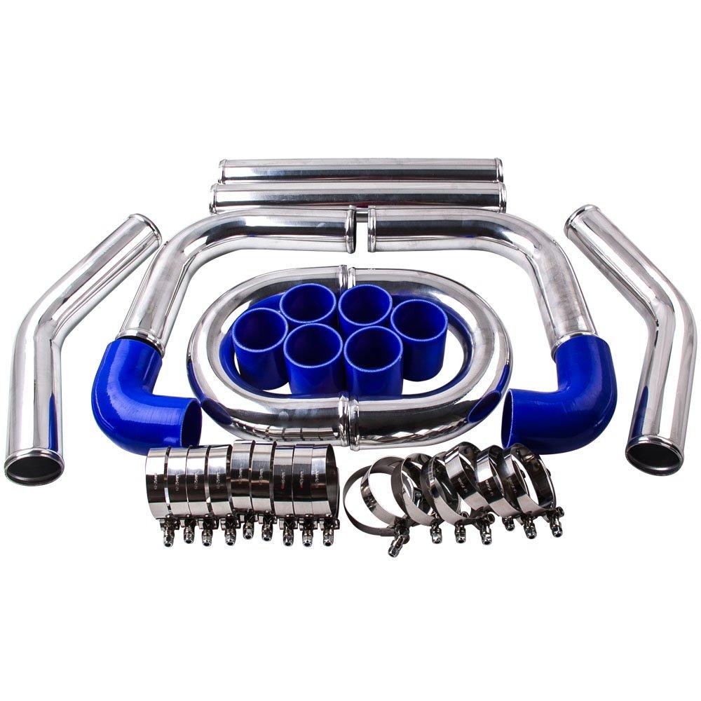 maXpeedingrods 2.5 INCH 64MM Aluminium UNIVERSAL INTERCOOLER PIPING KIT Pipes Klemme luftk/ühler