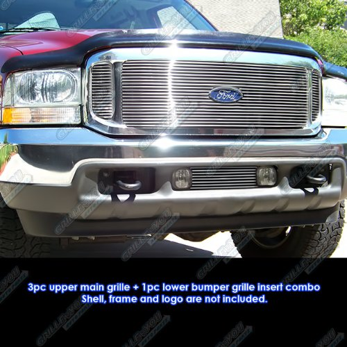 APS Compatible with 1999-2004 Ford F-250/F-350 Super Duty/Excursion Billet Grille Grill Combo Insert #F61142A