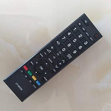 Universal Smart LED HD TV Remote Control Remoto inglés Reemplazo para Toshiba (Color: Negro): Amazon.es: Electrónica