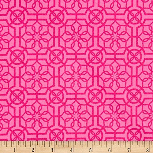 Benartex Bahama Breeze Trendy Trellis Pink/Pink Fabric By The Yard (Fabric Trellis)