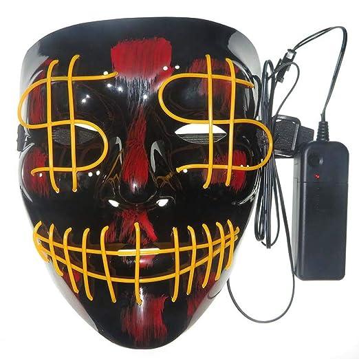 Disfraz De Máscara De Calavera De Purga Led Máscara De Halloween ...