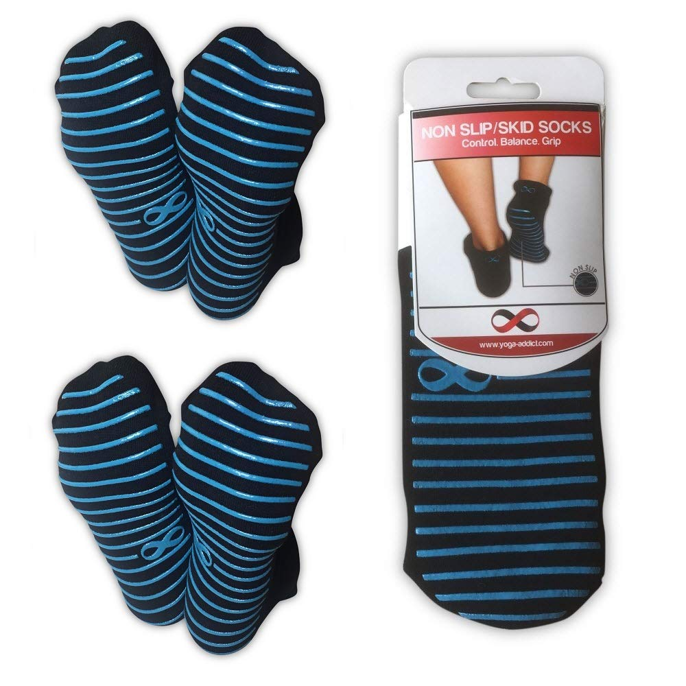 1 /& 2 Pairs Set YogaAddict Non Slip Skid Socks with Grips Pilates Men Traveling Choose Your Colour Home Use Women Martial Arts Trampoline Barre for Hospital Rehab Kids, Fitness Yoga