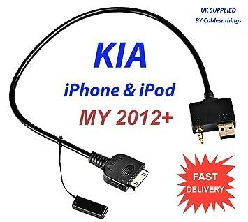 amazon com cable usb 3 5mm for kia ipod iphone 4 4s ipad forte cable usb 3 5mm for kia ipod iphone 4 4s ipad forte optima soul