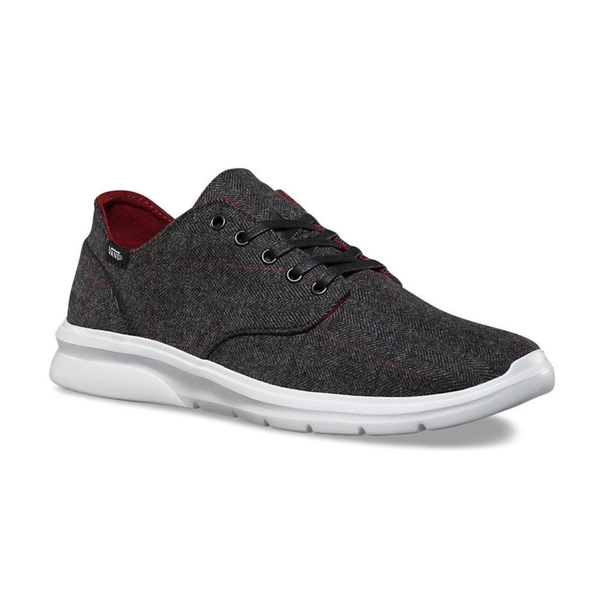 Vans Men's Iso 2 Tweed Casual Shoes 7.5 M US Women / 6 M US Men|Black/White