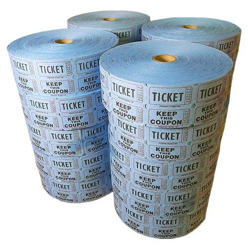 Double Roll Tickets Full Case - Blue (2000x20) by Muncie Novelties