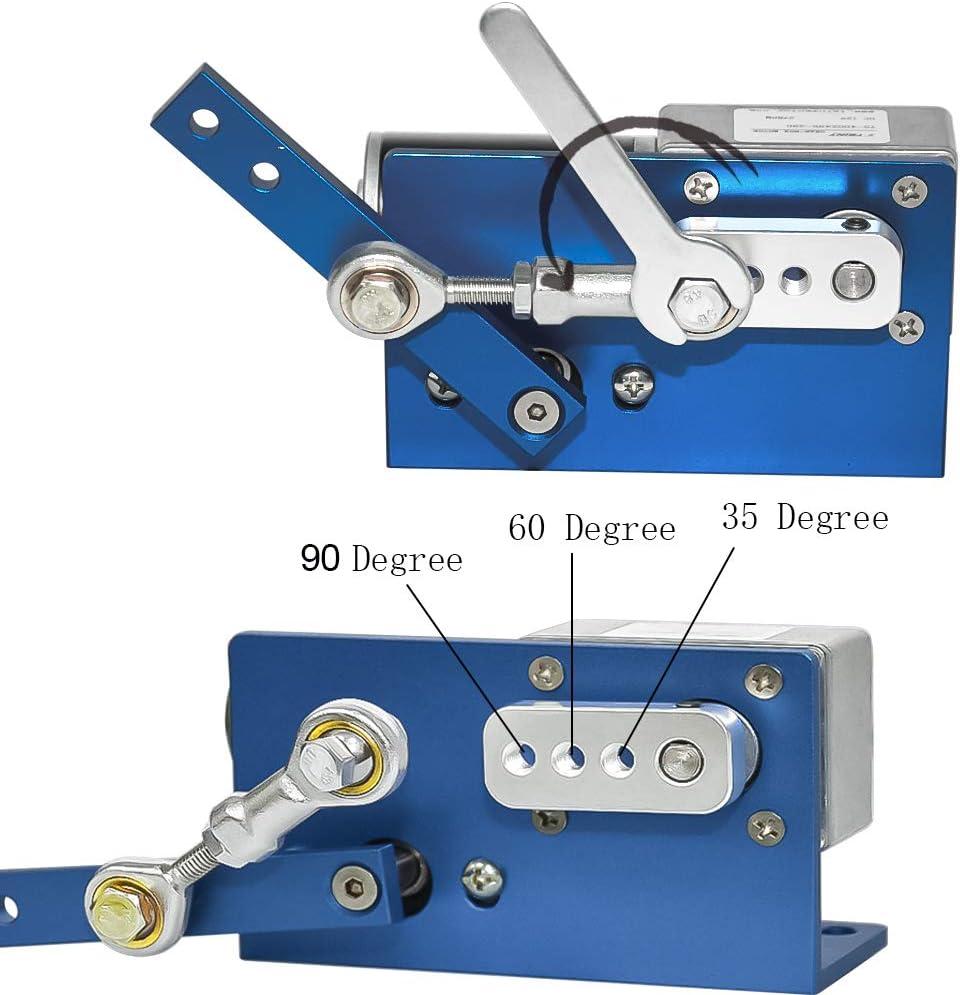 70 rpm, 24 Volt DC 12 V 24 V Getriebemotor Automatische Wobbler Maschine DC Motor 35 60 90 Degress mit B/ürste f/ür DIY Design
