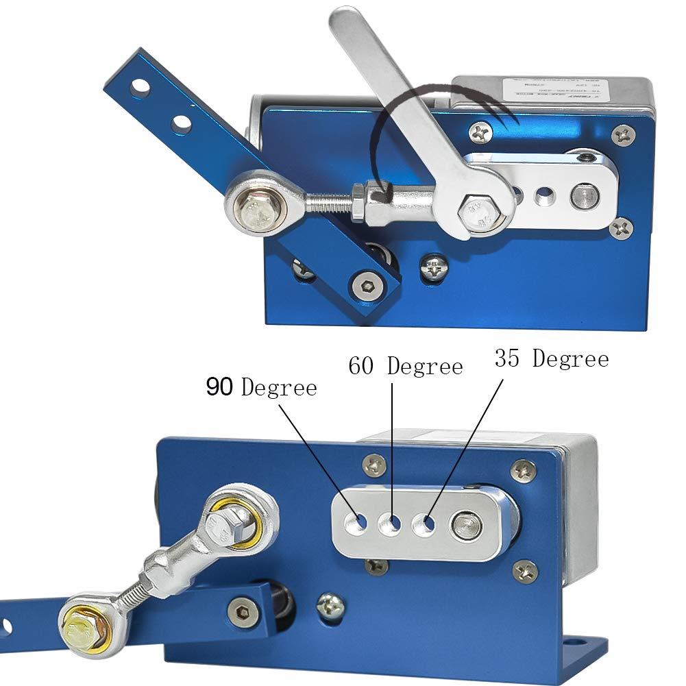 DC 12 V 24 V Getriebemotor Automatische Wobbler Maschine DC Motor 35 60 90 Degress mit B/ürste f/ür DIY Design 180 rpm, 12 Volt