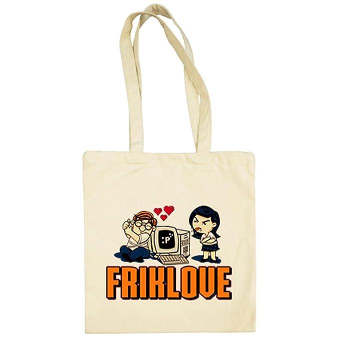 Bolsa de tela Friklove regalo amor frikis - Beige, 38 x 42 ...