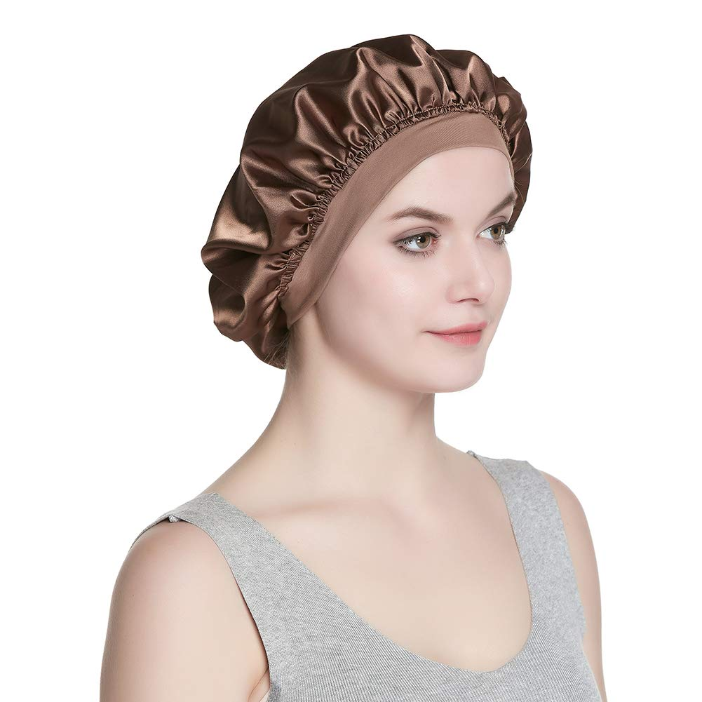 Alnorm Satin Cap Single Layer Sleeping Hat for Long Hair Hair Bonnets for Women