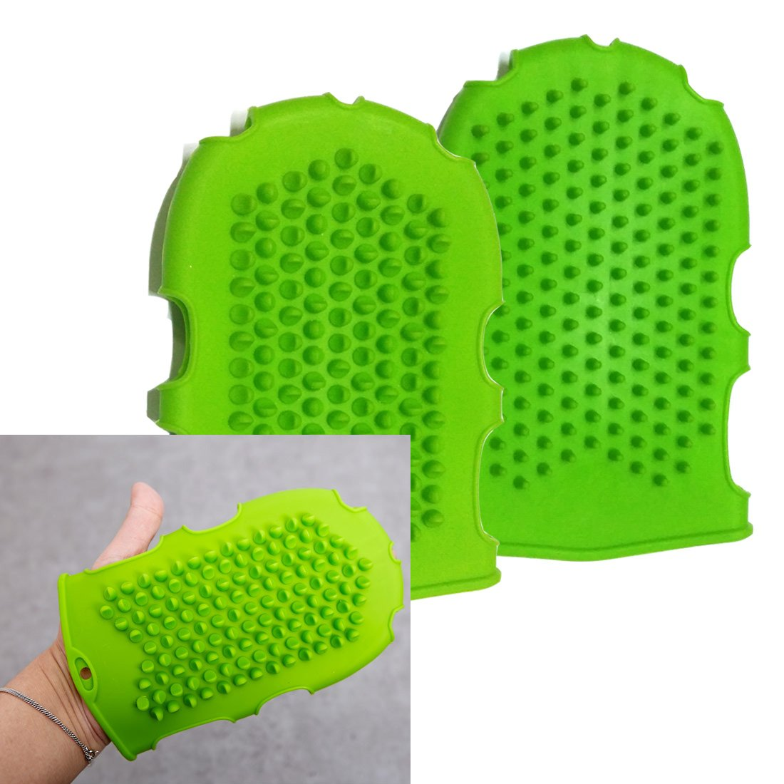 Silicone Massage Glove/cellulite Remover/increase Blood Circulation/ Brush Glove Scrub /Pink