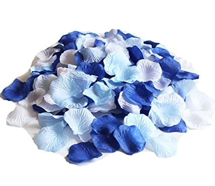 Amazon checkmineout mixed royal blue light blue white party checkmineout mixed royal blue light blue white party wedding flowers silk rose petals party mightylinksfo