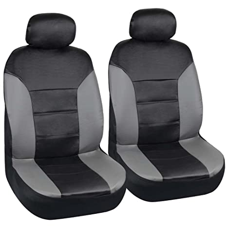 Motor Trend Two Tone PU Leather Car Seat Covers