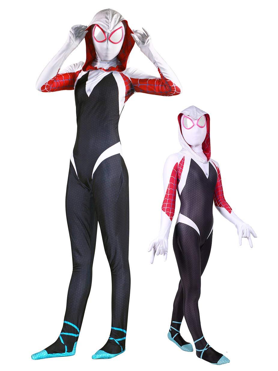 - 61R2Pqoo4kL - Crazycos Adult Kids Superhero Dress Up Costumes Cosplay Spandex Bodysuit Zentai