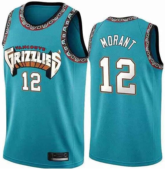 HEBZ NBA De los Hombres Camiseta de Baloncesto Grizzlies # 12 Ja Morant Malla Jerseys cosidos Cool Aptitud Swingman: Amazon.es: Deportes y aire libre