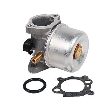 Gankmachine Carburador para Briggs Stratton 799872 790821 Juegos de Piezas de Repuesto Carb Cortacésped