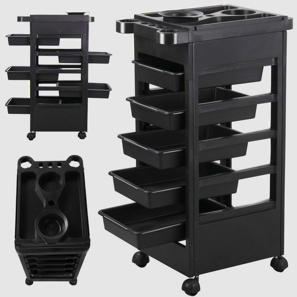 Styling Station Organizer Hair Salon Style station Professional Equipment Beauty Salon Portable Cabinet Rolling & e Book by AllTim3Shopping. ATS