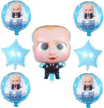 Amazon.com: 7 globos para fiesta de bebé jefe, globos de ...