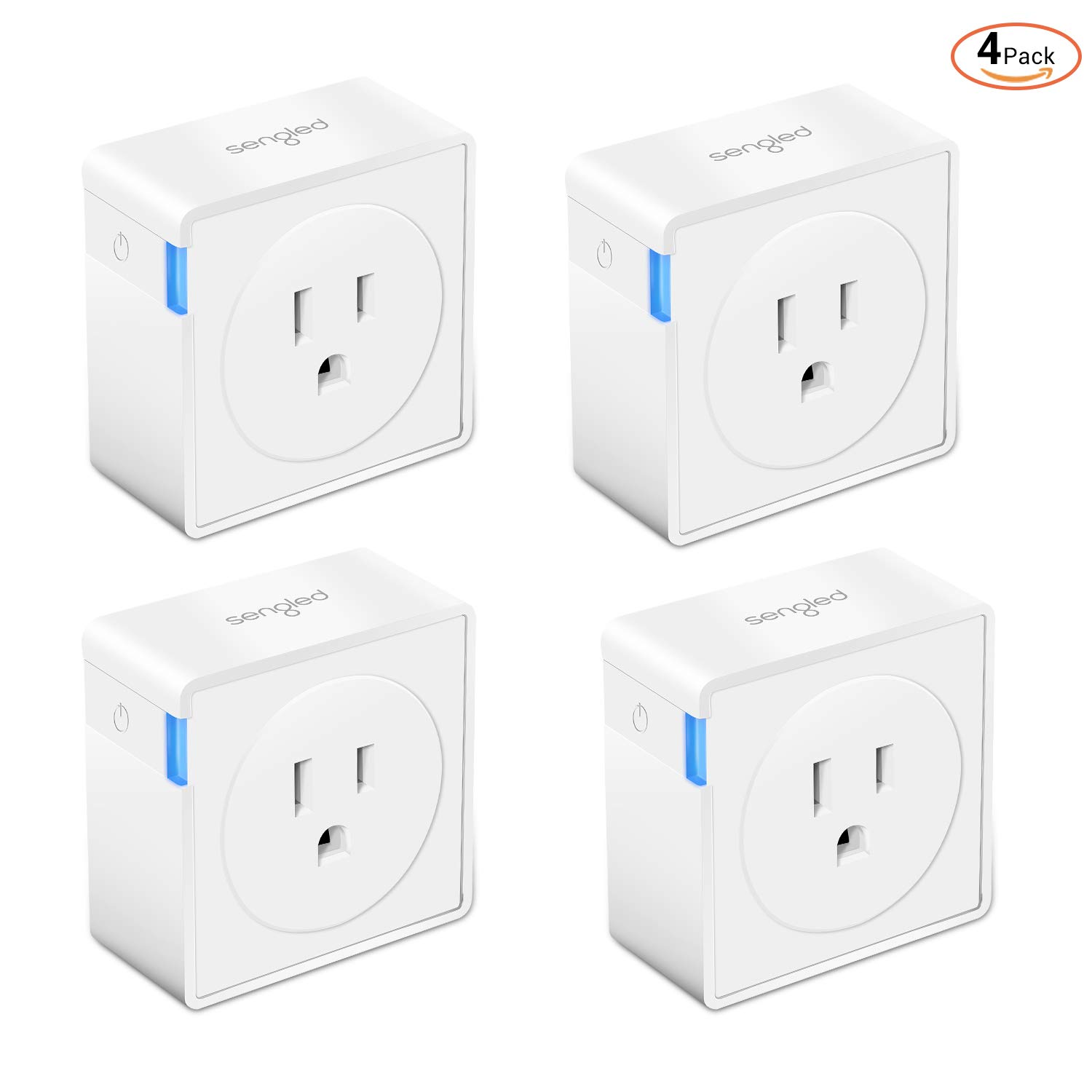 Smart Plug Outlet with Timer Function by Sengled, Compatible with Alexa, Google Home, Smart Hub Required, App Control, Type B Mini Smart Socket (4 Pack)