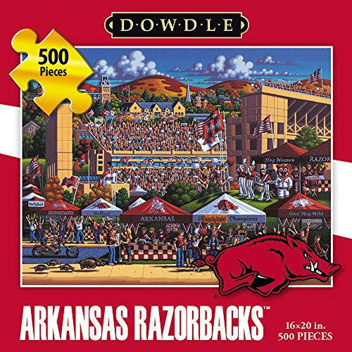 Jigsaw Puzzle - University of Arkansas Razorbacks-Hogs-500 Pc By Dowdle Folk Art