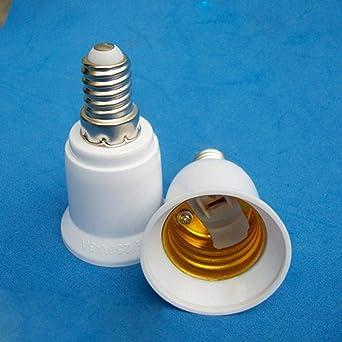 lámpara E14 a E27 LED bombilla porta convertidor Bases