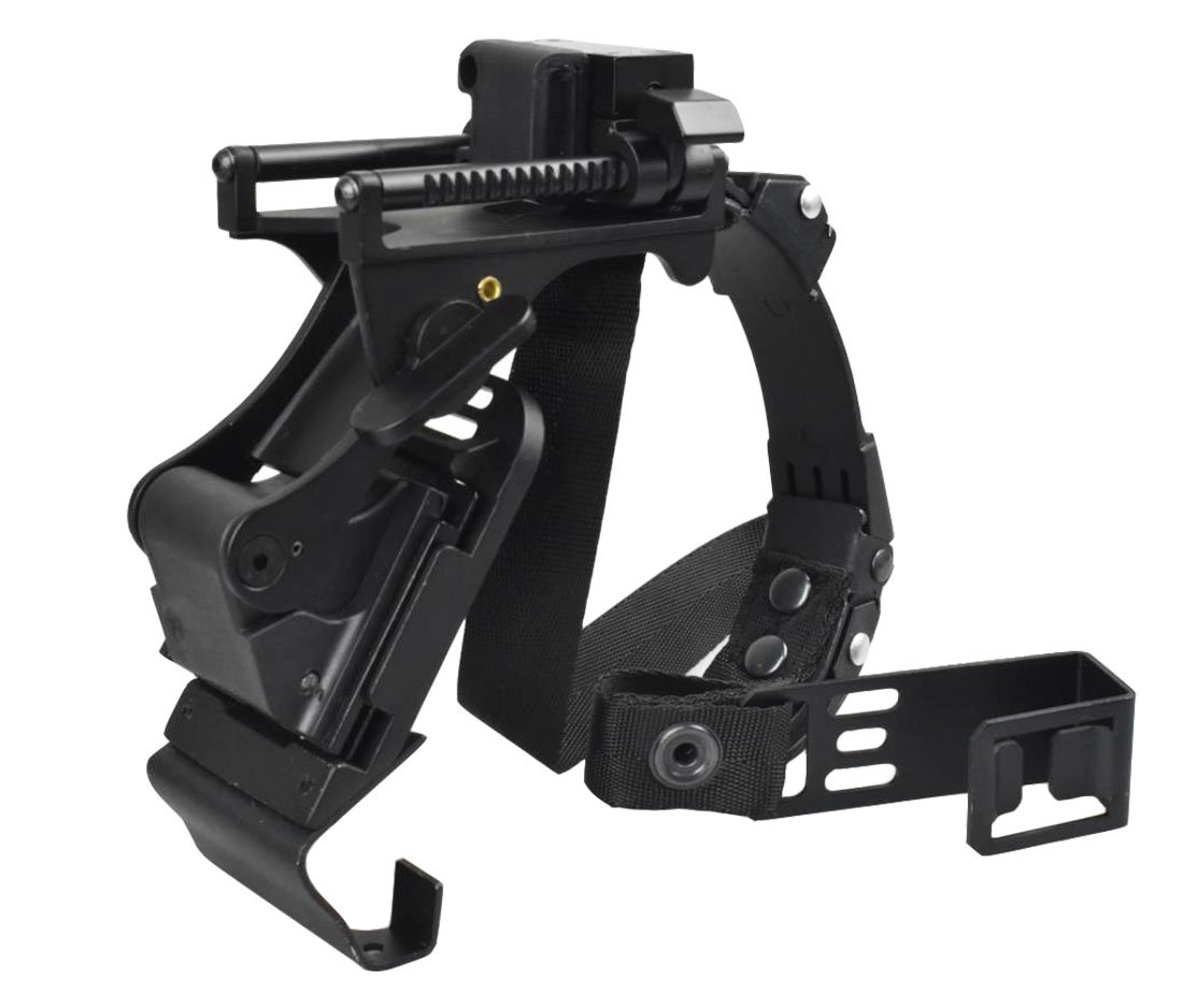 Jadedragon Night Vision Goggle Mount holding strap for ACH PASGT MICH/M88 Helmets SET(Black mich/ach set) by Jadedragon