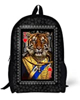 Cool 3D funny tiger Children 16-inch School Book Bag Printing Backpacks For Kids,Boys or Girls