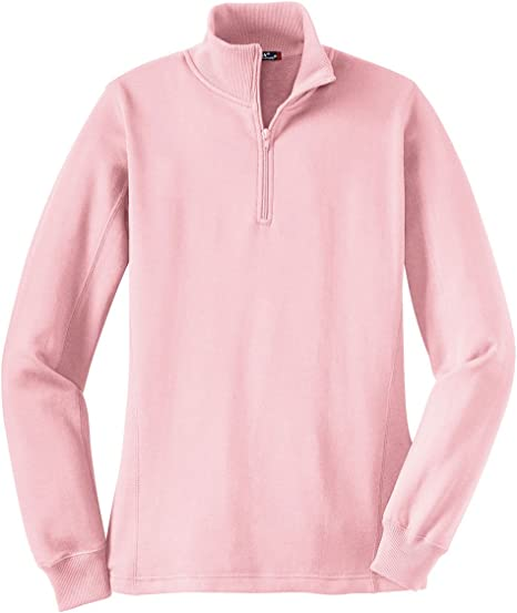Sport Tek Ladies 1 4 Zip Sweatshirt Lst253 Pink At Amazon Women S Clothing Store 0 reviews write a review. amazon com
