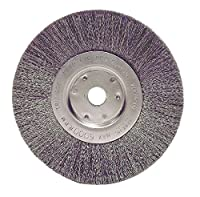 """Weiler 1705 Narrow Face Crimped Wire Wheel, 6"""", 0.118"""" Stainless Steel Fill, 5/8""""-1/2"""" Arbor Hole (Pack of 2)"""