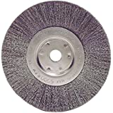 "Weiler 1705 Narrow Face Crimped Wire Wheel, 6"", 0.118"" Stainless Steel Fill, 5/8""-1/2"" Arbor Hole (Pack of 2)"