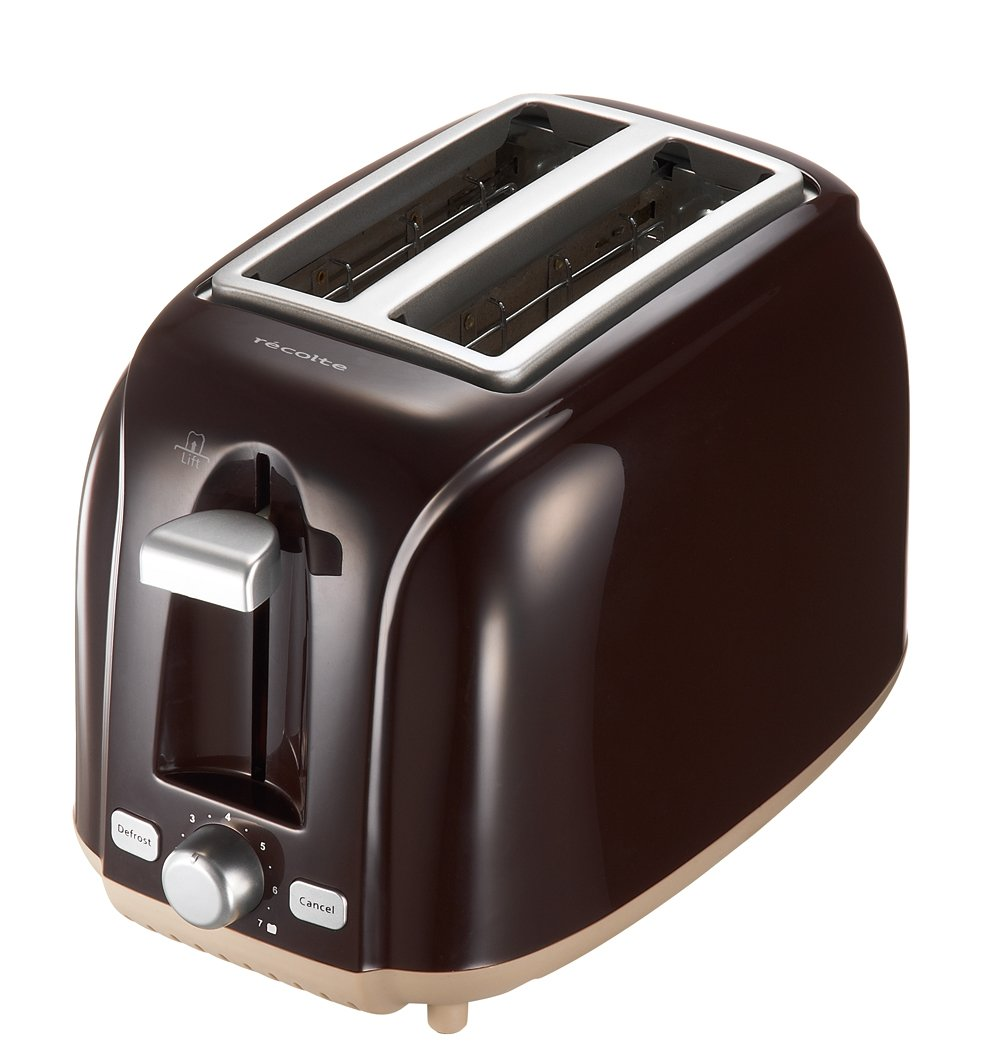 Recolte POP UP TOASTER ''Matin'' RPT-1BR (Bitter Brown)【Japan Domestic genuine products】