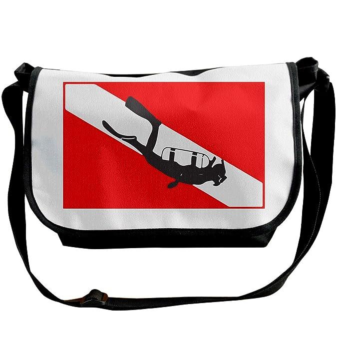 Amazon.com: Bolsa bandolera unisex con bandera de buceo en ...