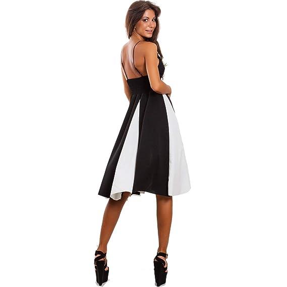 27381974072e Toocool - Vestito donna abito midi gonna ruota spalline sottili elegante  sexy WD-2064-1  Taglia unica
