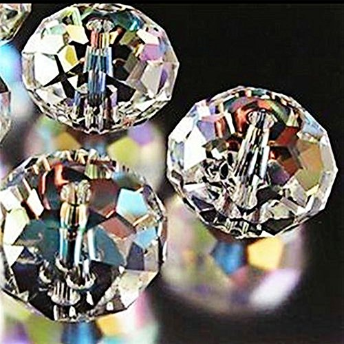 Bingcute Wholesale 5040 Austria Crystal Rondelle AB Beads Gemstone Loose Beads Choice (Ab 12mm Beads)