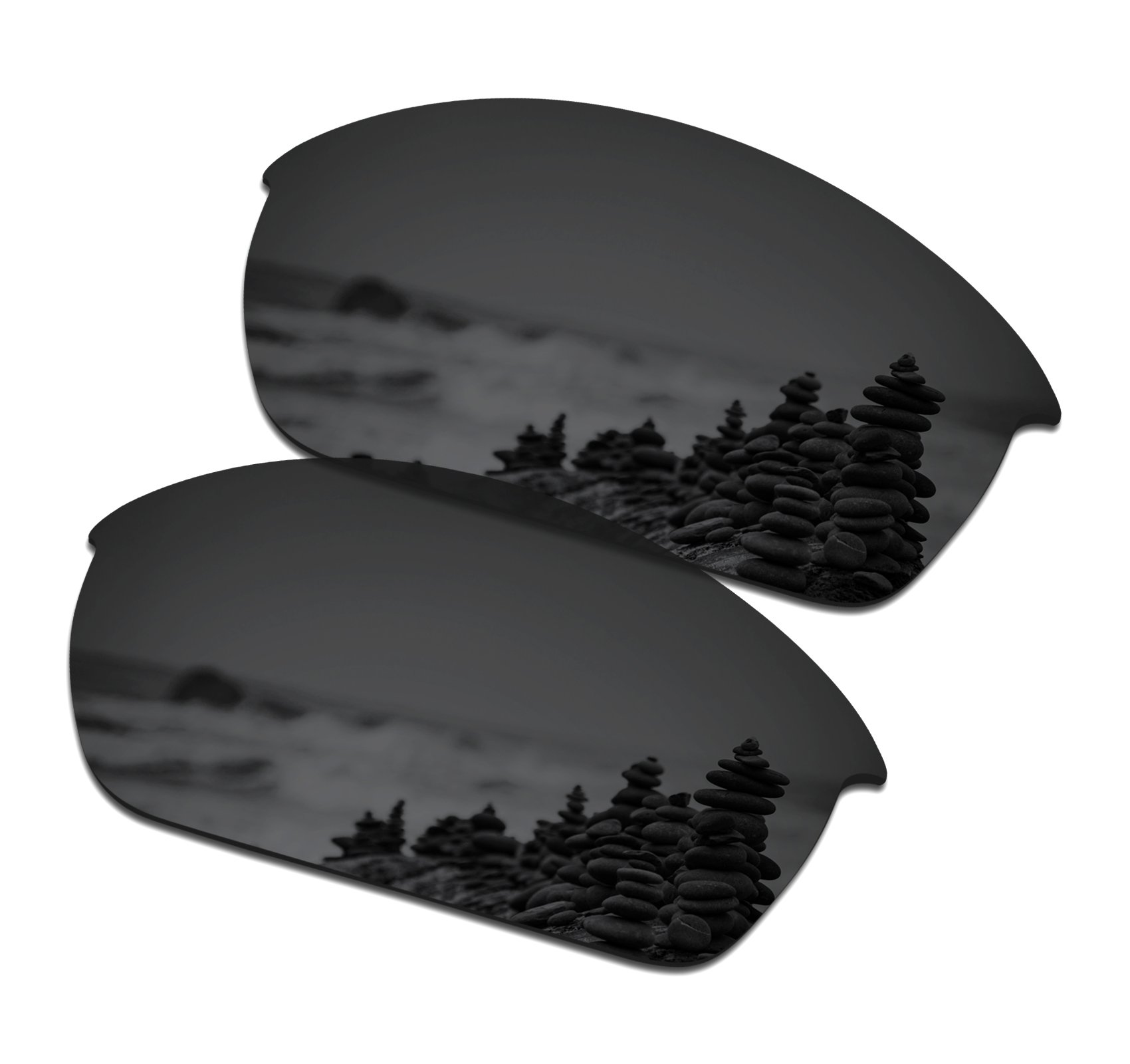 SmartVLT Men's Stealth Black Replacement Lenses for Oakley Flak Jacket Sunglass
