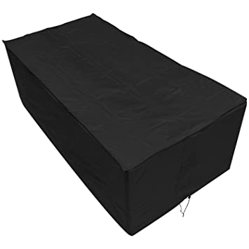 Oxbridge - Bâche pour table de jardin - rectangulaire/étanche - garantie 5  ans - noir - grande taille