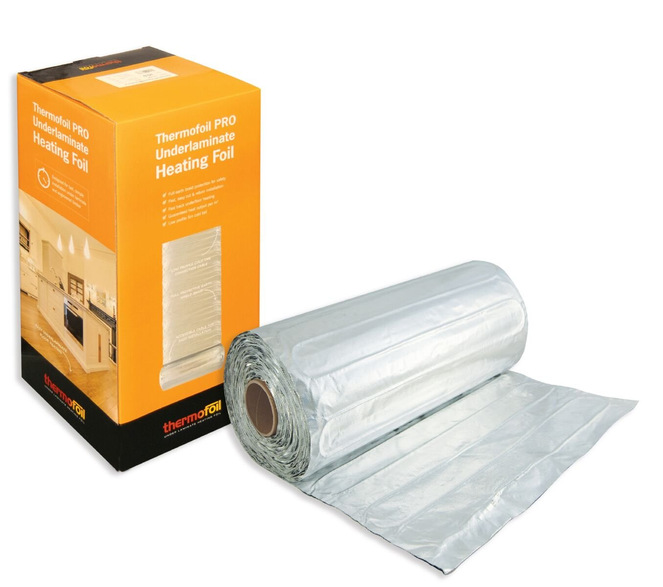 Thermofoil PRO 140W /m2 Electric Foil Underfloor Heating Mat - for Laminate and Timber Flooring (1.0m2) Thermogroup UK 121402