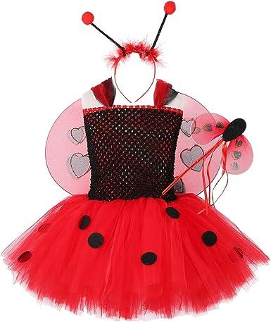 Amazon.com: Ladybug - Vestido de tutú para niñas para ...