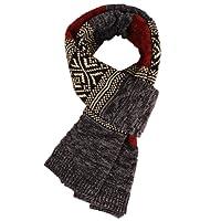 MUCO Sciarpa Donna uomo Multicolore bohemien Sciarpa lana Sciarpa stile nordico Stole Scialle Serico Quadrato di cotone Sciarpa