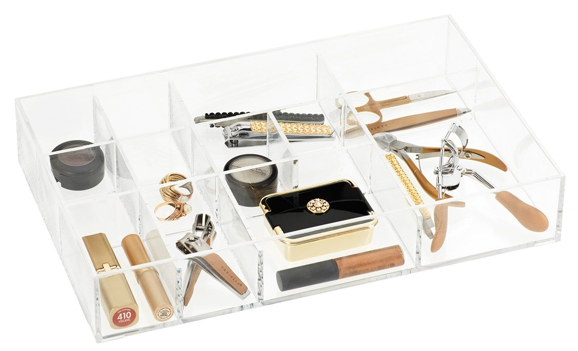 Debut by Danielle Clear Acrylic Compartment 12-Drawer Organizer