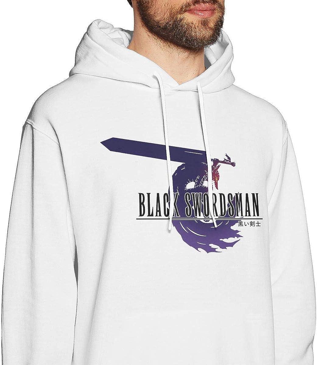 shotngwu Berserk Guts Black Swordsman Mens Pullover Hoodies Crewneck Long Sleeve Sweatshirt White Small|style1