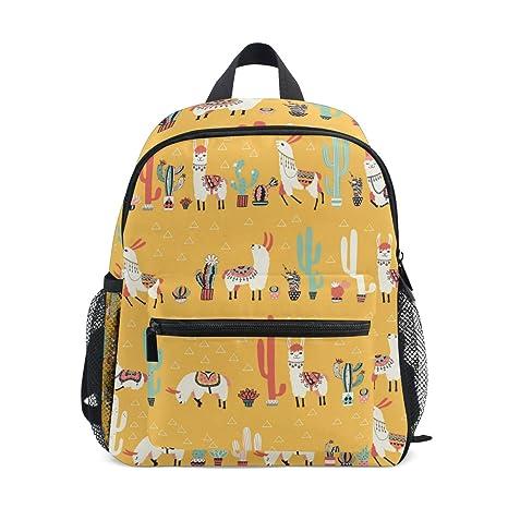 Mochila para niños Happy Llama Kindergarten Preescolar Bolsa ...