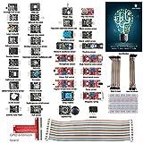 SunFounder 37 modules Sensor Kit for Raspberry Pi Model B+ & Raspberry Pi 2 , 40-Pin GPIO Extension Board Jump wires