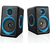 Computer Speakers with Heavy Bass,Subwoofer, Volume Control, 3.5mm Audio, USB Wired Powered Built-in Four Loudspeaker Diaphragm Multimedia Speaker for PC/Laptops/Desktop/ASUS/ACER Computer (Blue)