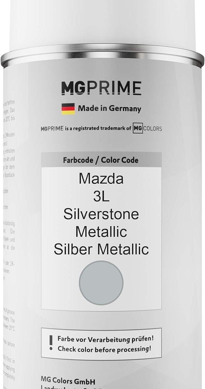 Mg Prime Autolack Sprühdosen Set Für Mazda 3l Silverstone Metallic Silber Metallic Basislack Klarlack Spraydose 400ml Auto