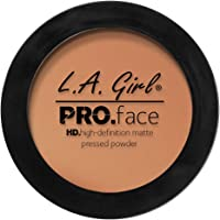 L.A. Girl Pro Face HD Matte Pressed Powder, Warm Caramel, 0.25 Ounce (Pack of 3)