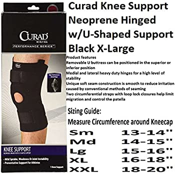 60085dc187 Amazon.com: Medline ORT23220XLD Curad Neoprene Knee Supports Hinged ...