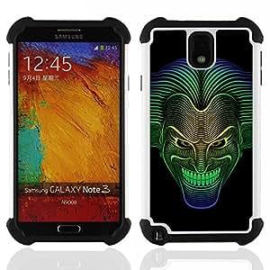 - Cool Neon Joker Face Detailed - - Doble capa caja de la armadura Defender FOR Samsung Galaxy Note3 N9000 N9008V N9009 RetroCandy