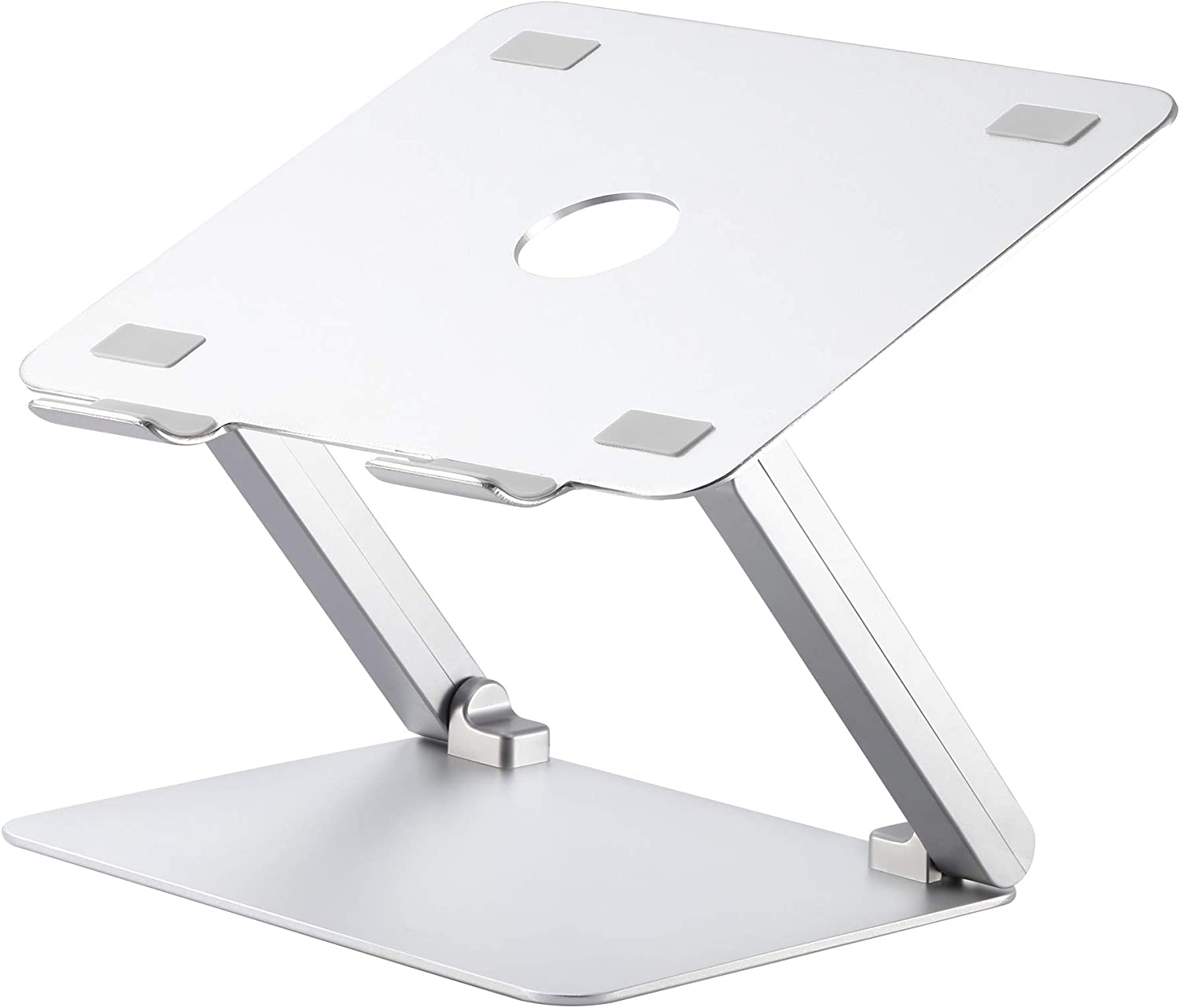 Aluminum Laptop Stand, Kavalan Ergonomic Foldable Height Adjustable Laptop Riser for Desk, Compatible with Apple MacBook Air Pro Dell Lenovo Samsung and All Laptops from 10-17 inches