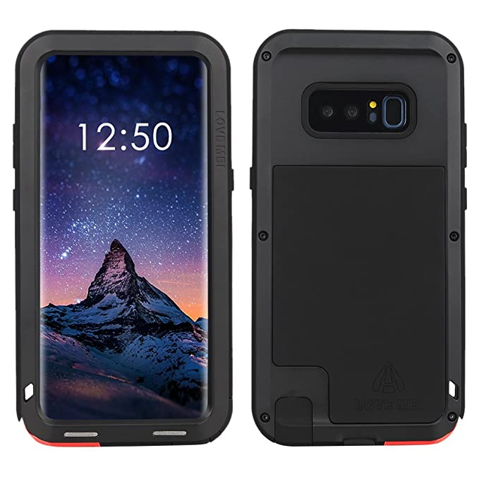new product 8a9fb 9ee79 Samsung Galaxy Note 8 case,Feitenn Extreme Hybrid Armor Alloy Aluminum  Metal Bumper Soft Rubber Military Heavy Duty Shockproof Hard Case For  Samsung ...